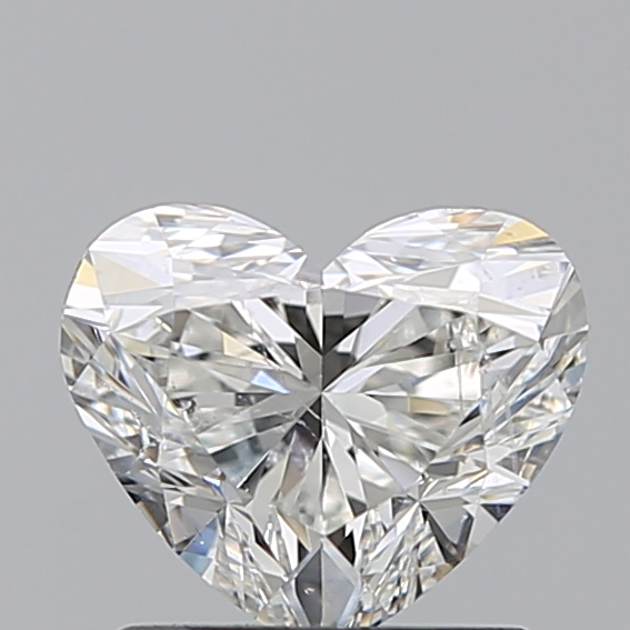 1.00 Carat Heart Loose Diamond, H, SI2, Super Ideal, GIA Certified