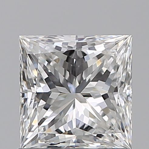 0.90 Carat Princess Loose Diamond, E, VVS1, Super Ideal, GIA Certified