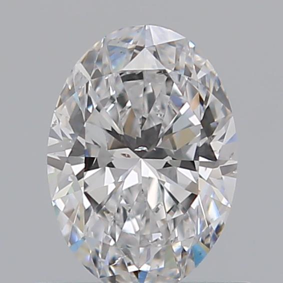 0.51 Carat Oval Loose Diamond, D, SI1, Super Ideal, GIA Certified | Thumbnail