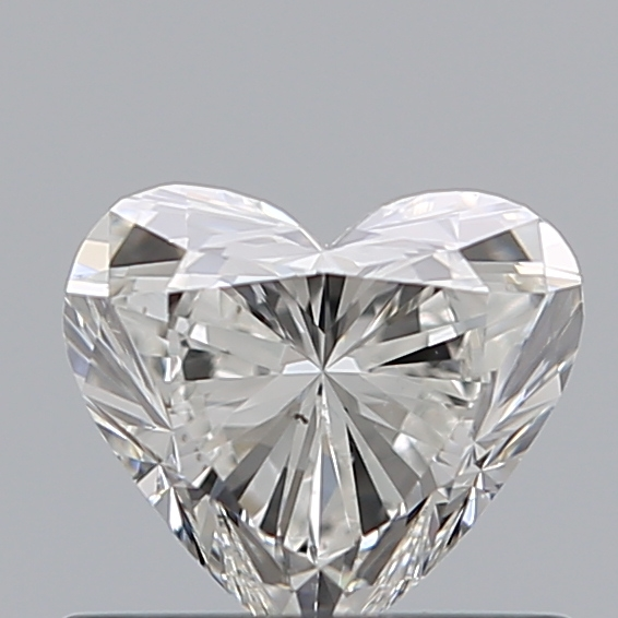 0.50 Carat Heart Loose Diamond, G, VS2, Ideal, GIA Certified
