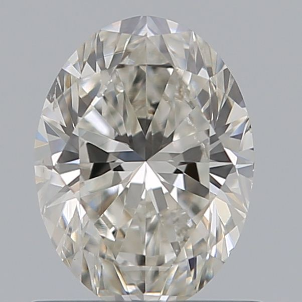 0.70 Carat Oval Loose Diamond, H, SI1, Super Ideal, GIA Certified