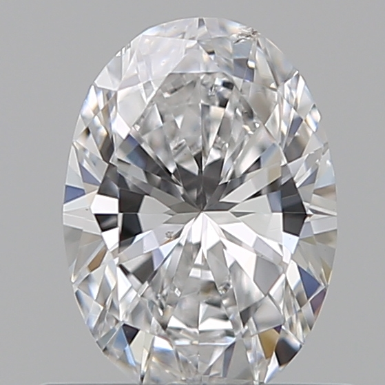 0.50 Carat Oval Loose Diamond, D, SI1, Excellent, GIA Certified