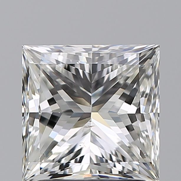 1.90 Carat Princess Loose Diamond, H, VS2, Super Ideal, GIA Certified