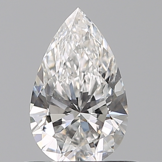 0.50 Carat Pear Loose Diamond, F, VS2, Ideal, GIA Certified | Thumbnail
