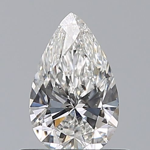 0.50 Carat Pear Loose Diamond, G, SI2, Ideal, GIA Certified | Thumbnail