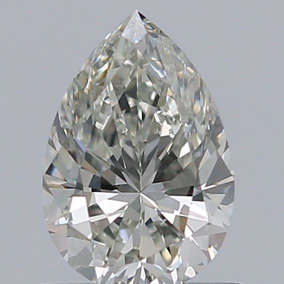 0.70 Carat Pear Loose Diamond, J, VS2, Ideal, GIA Certified