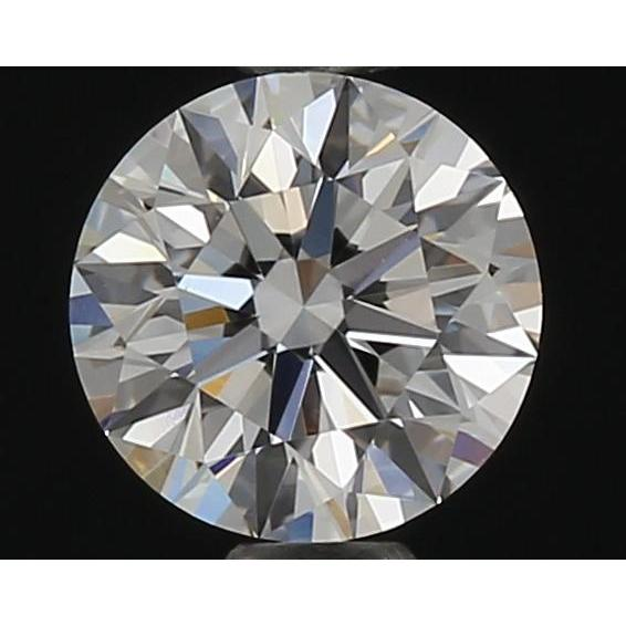 0.54 Carat Round Loose Diamond, F, VVS2, Super Ideal, GIA Certified