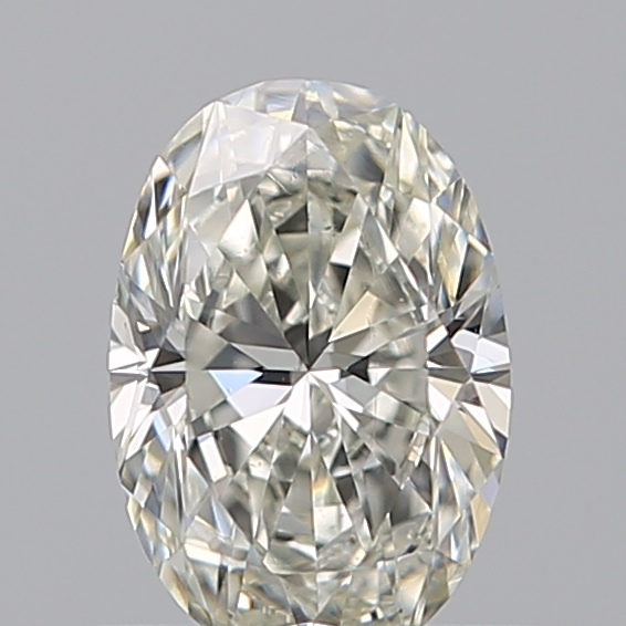 0.52 Carat Oval Loose Diamond, J, VS2, Ideal, GIA Certified