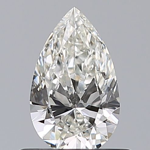 0.50 Carat Pear Loose Diamond, H, VS2, Super Ideal, GIA Certified | Thumbnail