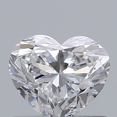 0.50 Carat Heart Loose Diamond, D, VS1, Ideal, GIA Certified
