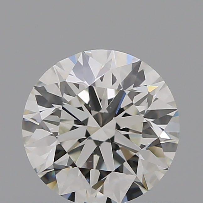 0.52 Carat Round Loose Diamond, I, VS1, Super Ideal, GIA Certified