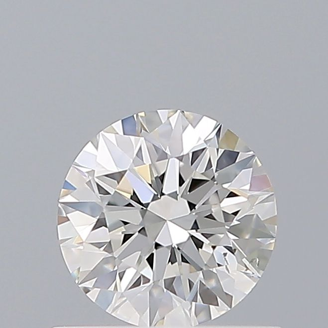 0.54 Carat Round Loose Diamond, F, SI1, Super Ideal, GIA Certified