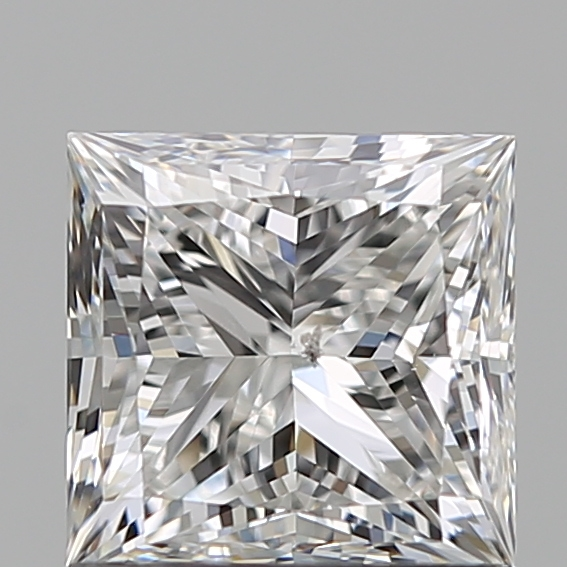 1.00 Carat Princess Loose Diamond, F, SI2, Super Ideal, GIA Certified | Thumbnail