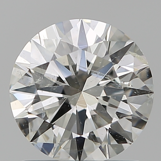 1.01 Carat Round Loose Diamond, H, SI2, Super Ideal, GIA Certified