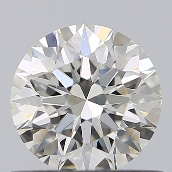 0.55 Carat Round Loose Diamond, I, VS1, Super Ideal, GIA Certified