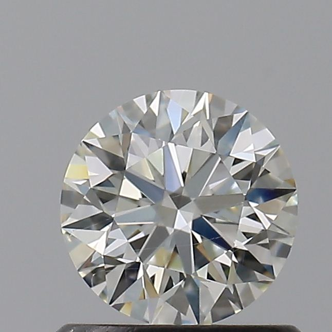 0.63 Carat Round Loose Diamond, J, SI1, Super Ideal, GIA Certified