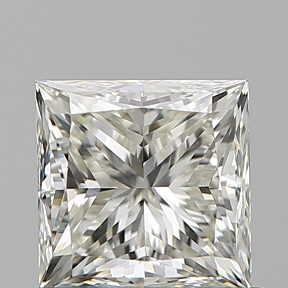 0.90 Carat Princess Loose Diamond, J, VS1, Ideal, GIA Certified