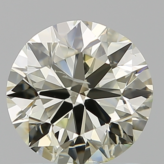 1.00 Carat Round Loose Diamond, Q-R, SI2, Ideal, GIA Certified