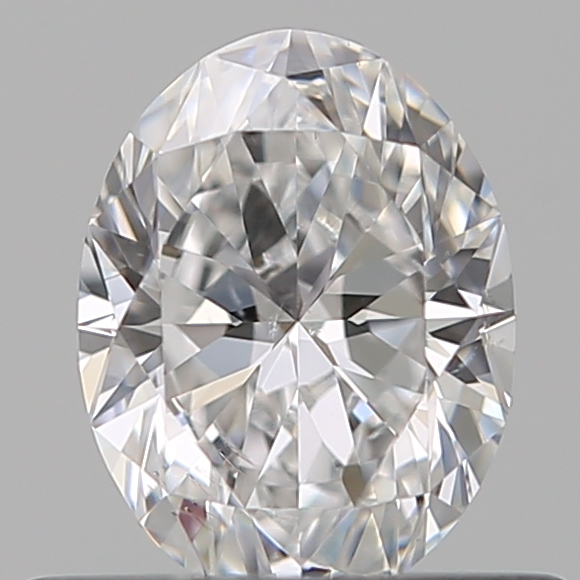 0.50 Carat Oval Loose Diamond, D, SI1, Super Ideal, GIA Certified