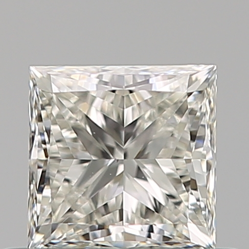 0.51 Carat Princess Loose Diamond, J, VS1, Super Ideal, GIA Certified