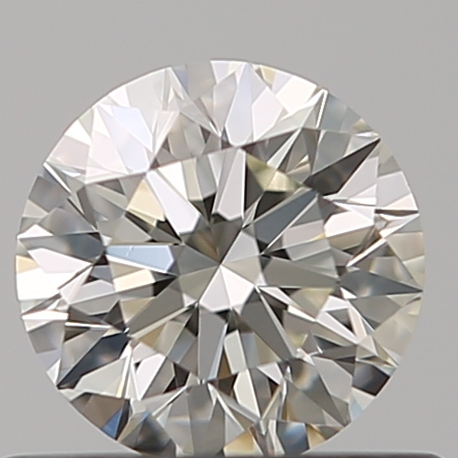 0.52 Carat Round Loose Diamond, K, VVS1, Super Ideal, GIA Certified