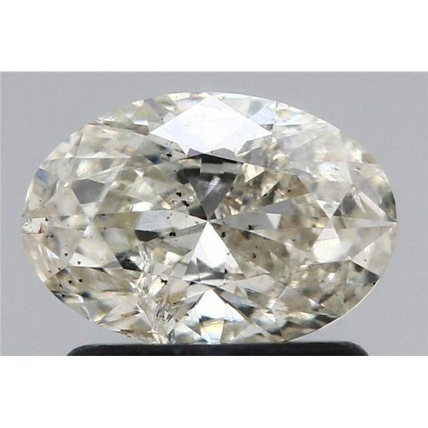 0.80 Carat Oval Loose Diamond, J, I2, Excellent, GIA Certified