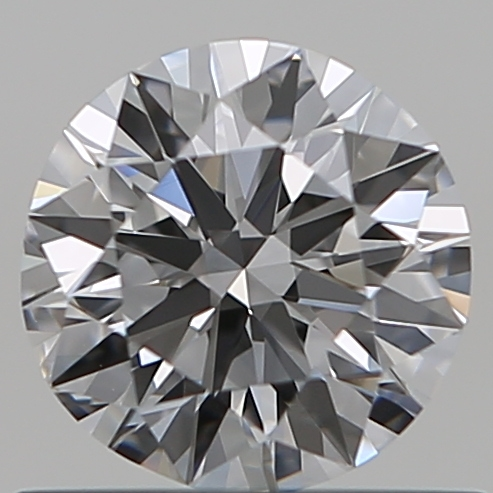 0.59 Carat Round Loose Diamond, E, VVS2, Excellent, GIA Certified