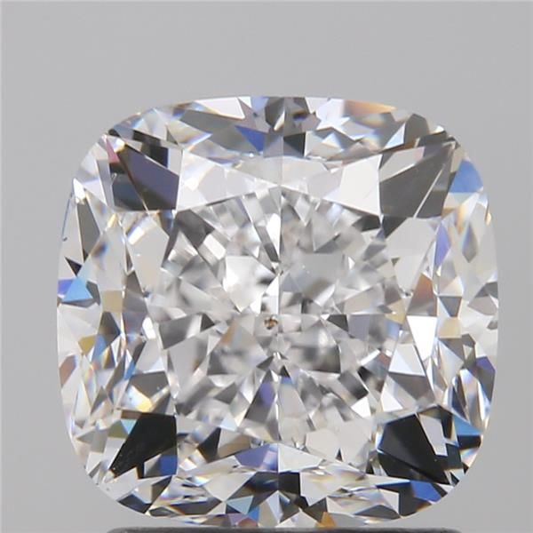 2.01 Carat Cushion Loose Diamond, D, SI1, Excellent, GIA Certified | Thumbnail