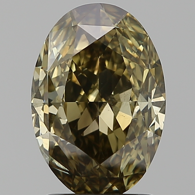 2.01 Carat Oval Loose Diamond, FANCY, SI2, Ideal, GIA Certified
