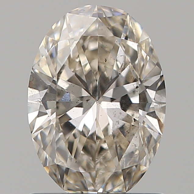 0.90 Carat Oval Loose Diamond, K, SI1, Ideal, GIA Certified