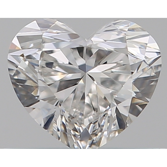 0.40 Carat Heart Loose Diamond, F, VVS2, Ideal, GIA Certified