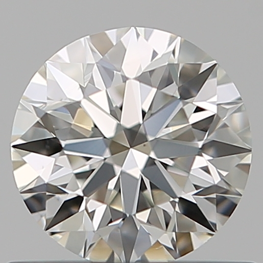 0.54 Carat Round Loose Diamond, H, VS1, Super Ideal, GIA Certified