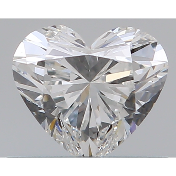 0.37 Carat Heart Loose Diamond, F, VS2, Super Ideal, GIA Certified