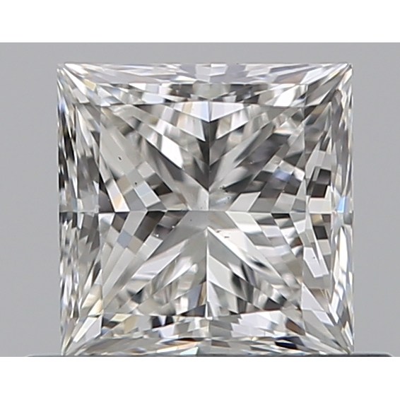 0.53 Carat Princess Loose Diamond, H, VS2, Super Ideal, GIA Certified
