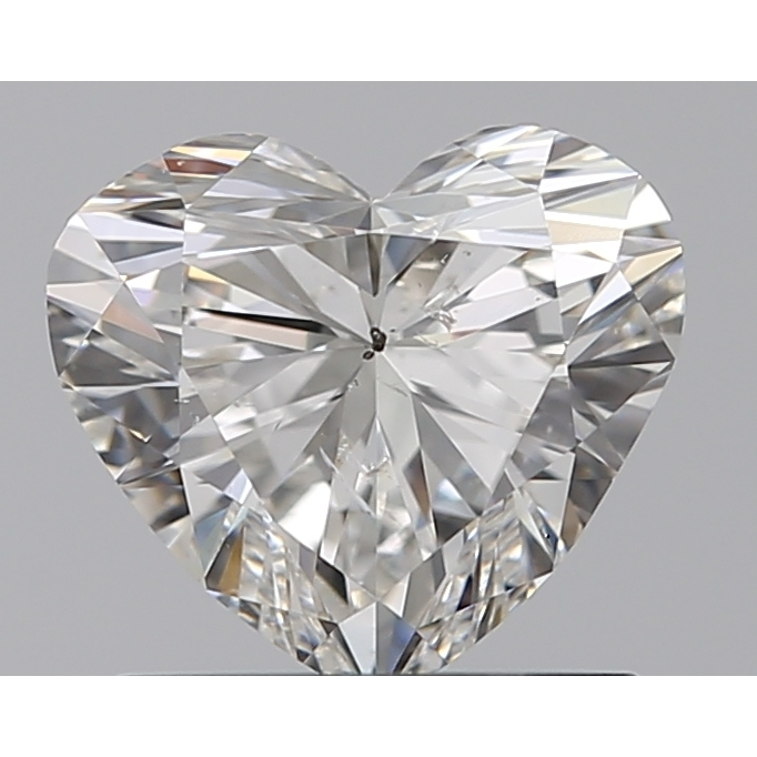 0.90 Carat Heart Loose Diamond, H, SI2, Ideal, GIA Certified