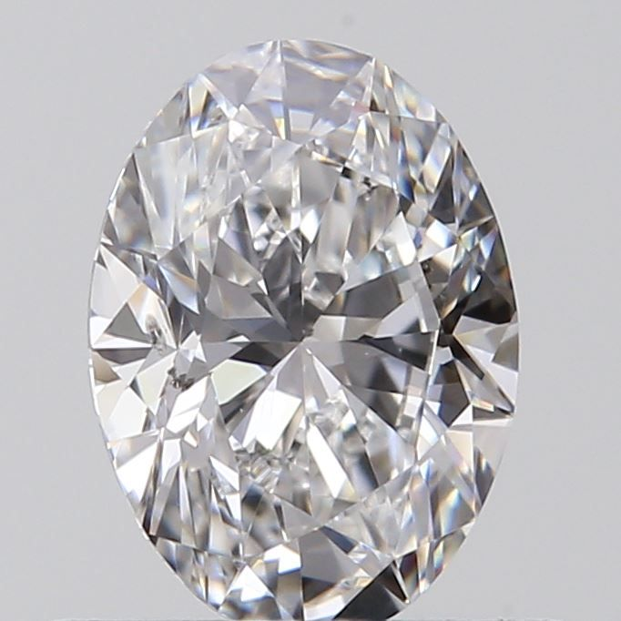 0.53 Carat Oval Loose Diamond, D, SI2, Super Ideal, GIA Certified