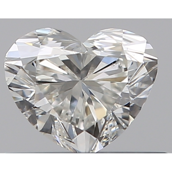 0.40 Carat Heart Loose Diamond, H, VS2, Excellent, GIA Certified