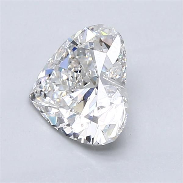 1.17 Carat Heart Loose Diamond, F, SI1, Super Ideal, GIA Certified | Thumbnail
