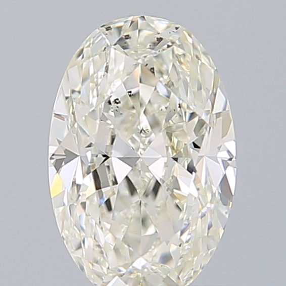 0.70 Carat Oval Loose Diamond, J, SI2, Excellent, GIA Certified