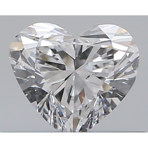 0.33 Carat Heart Loose Diamond, D, VS2, Ideal, GIA Certified