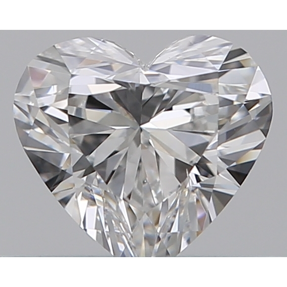 0.32 Carat Heart Loose Diamond, E, VS2, Ideal, GIA Certified | Thumbnail