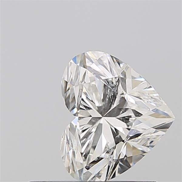 0.56 Carat Heart Loose Diamond, H, SI2, Super Ideal, GIA Certified | Thumbnail
