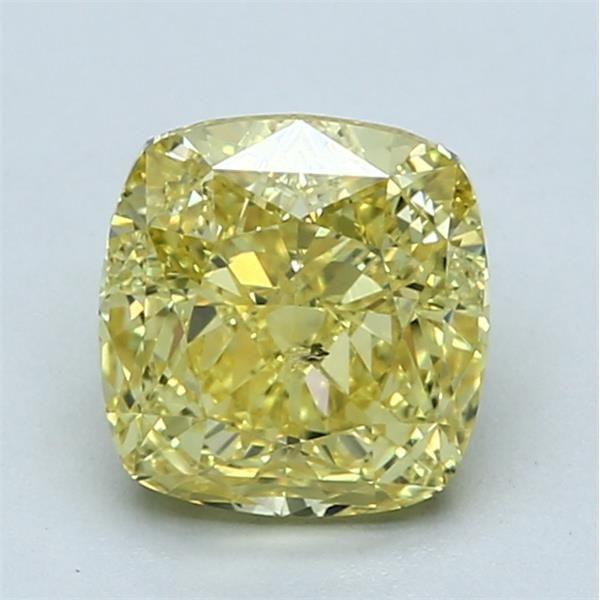 2.13 Carat Cushion Loose Diamond, FVY FVY, SI2, Ideal, GIA Certified