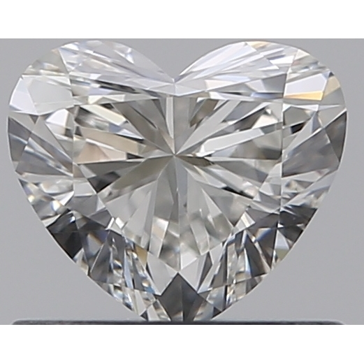 0.51 Carat Heart Loose Diamond, G, VVS2, Super Ideal, GIA Certified