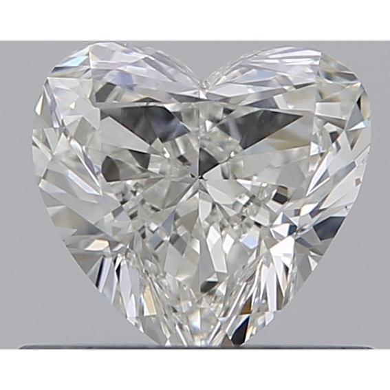0.50 Carat Heart Loose Diamond, I, VS2, Ideal, GIA Certified