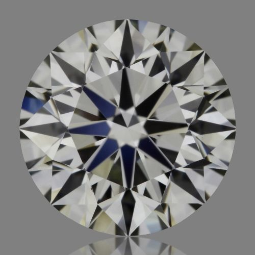 0.90 Carat Round Loose Diamond, K, VVS2, Super Ideal, GIA Certified