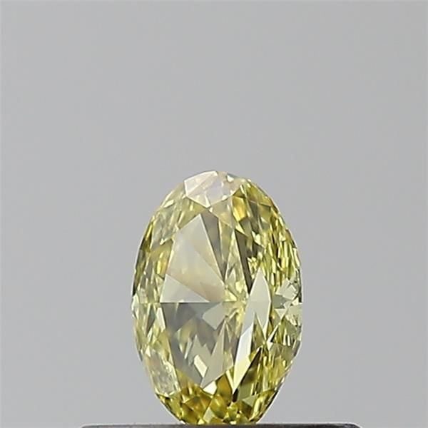 0.29 Carat Oval Loose Diamond, Fancy Intense Yellow, SI1, Excellent, GIA Certified