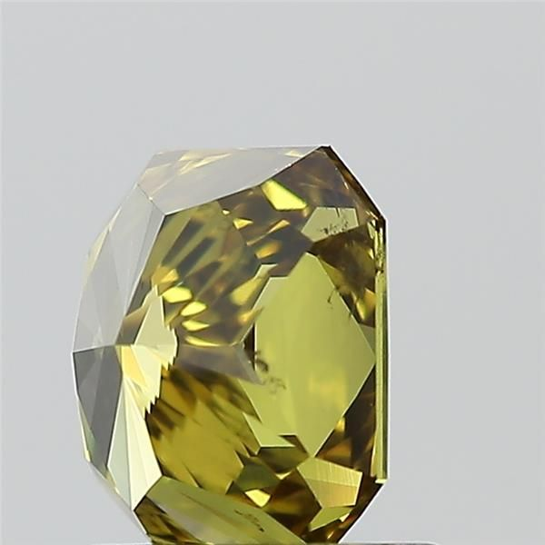 1.07 Carat Radiant Loose Diamond, Fancy Deep Brownish Greenish Yellow, SI2, Excellent, GIA Certified