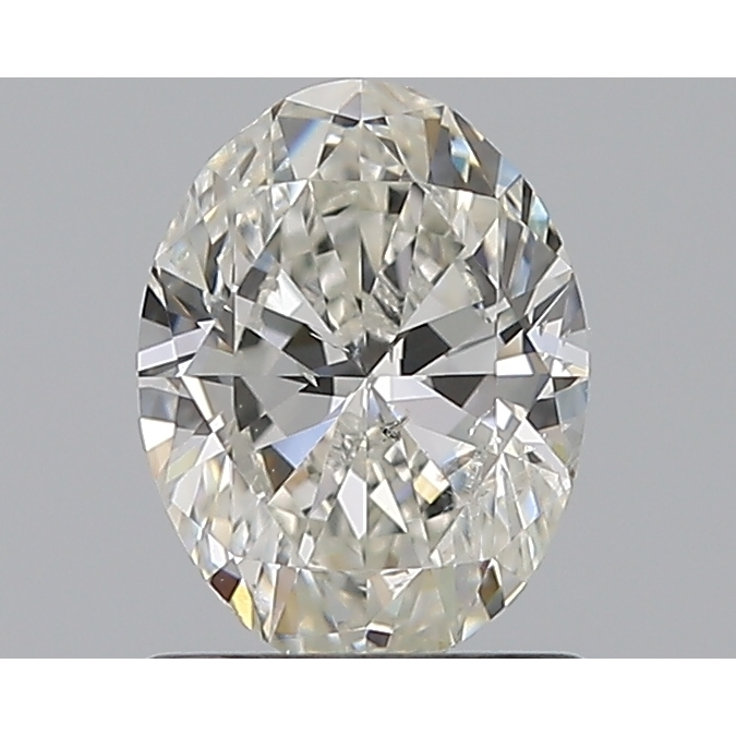 1.00 Carat Oval Loose Diamond, H, SI2, Excellent, GIA Certified