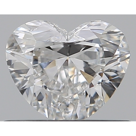 0.40 Carat Heart Loose Diamond, F, SI1, Excellent, GIA Certified